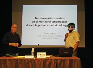 Presentació de la conferència a càrrec del president Pere Gifre