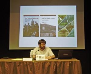 Enric Saguer en un moment de la conferència