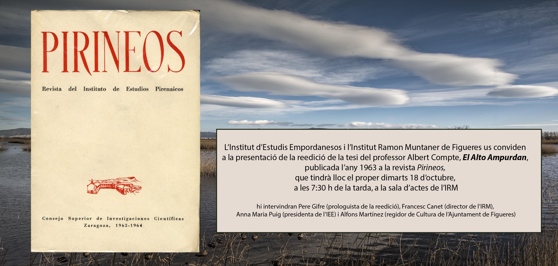 Reedició de la tesi del professor Albert Compte