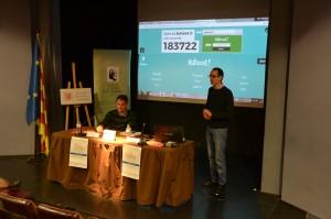 Primera sessió del matí, a càrrec de Jordi Cicres (UdG) i Enric Serra (UAB)