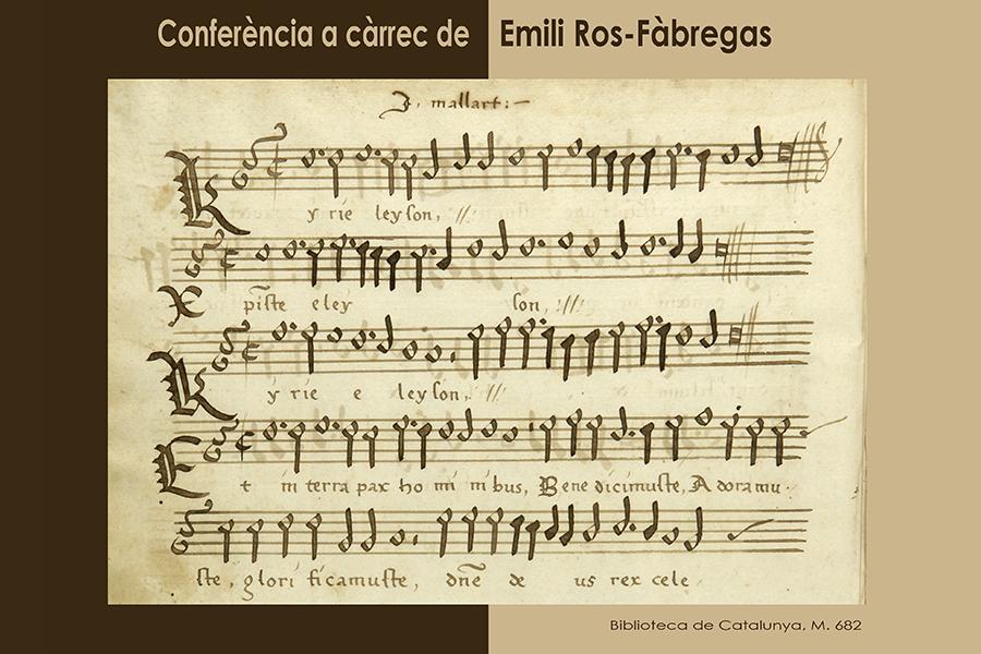 Conferència Emili Ros-Fàbregas, 27 d'abril