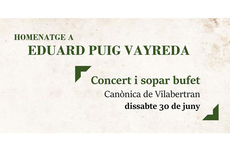 Homenatge a l'Eduard Puig Vayreda