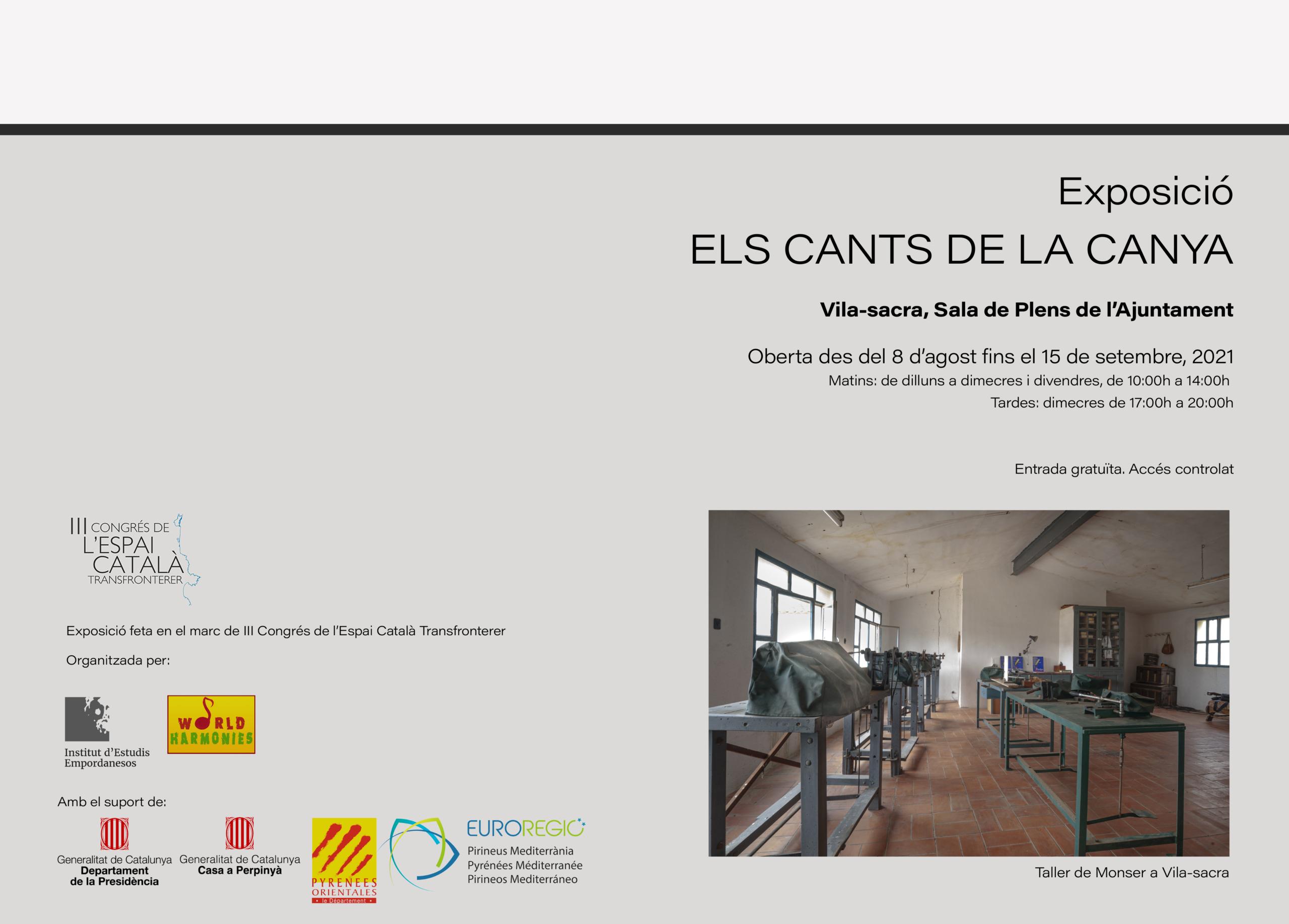 """Exposició """"Els Cants de la Canya"""" a Vila-sacra"""